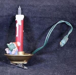 1985 Hallmark Lighted Mouse Reading on a Candlestick Keepsake Christmas Ornament