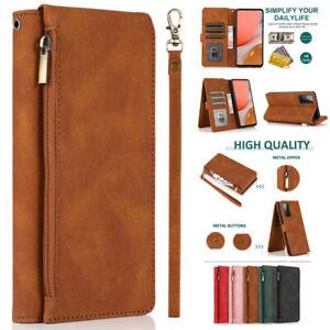 Zipper Pocket Flip Leather Wallet CaseFor OnePlus 6 7 7T 3 5 8 9 Pro 9R 8T 6T 5T