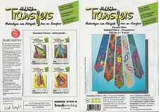 "Hobbidee Iron-on Transfers 07-016-14:  Krawatten 6  ""Perspektive"" / Ties ""Future"