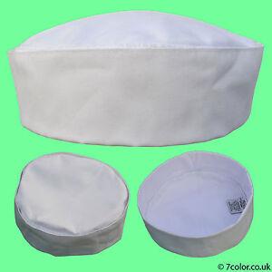 Chef Hat / Skull Cap Professional Catering Chef's CAP White & Black.