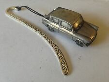 Ford Anglia 105E Saloon ref69  FULL CAR on a Pattern bookmark with cord