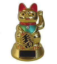 Solar Energy Golden Lucky Cat Statue