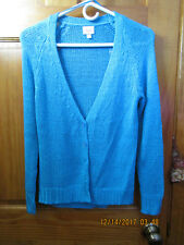 JUSTICE V neck knit teal cardigan in size 14 ,(girls) NEW