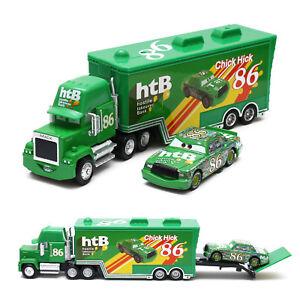 Disney Pixar Cars Chick Hicks & NO.86 Mack Truck Set 1:55 Diecast Toy Loose New