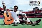 """Pele - Personality Poster / Print (Soccer Ball & Guitar) (Size: 40"""" X 27"""")"""
