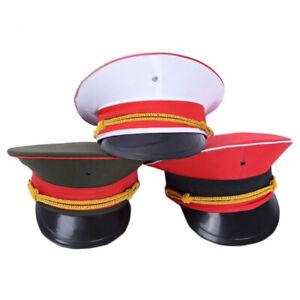 Unisex Army Hat Captain Performance Cap Soldier Military Costume Fancy Dress
