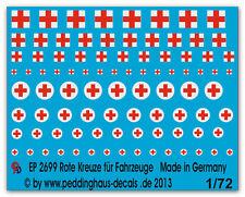 Peddinghaus 2699 1/72 Rote Kreuze für Fahrzeuge