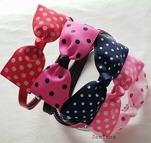 Jemlana's handmade Polka dot headbands for girls...Made in Australia