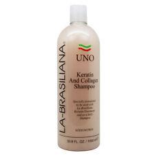 La-Brasiliana Uno Keratin And Collagen Shampoo 33.8oz w/Free Nail File