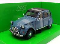 Welly 1/24 Scale Model Car 24009A-W - Citroen 2CV - Blue