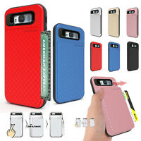 For Galaxy S10+ S9 Note 9/ iPhone XR Auto Case Cover Slim Card Wallet Shockproof