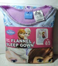 Newest New Girls Disney FROZEN Flannel NIGHTGOWN Sleep Gown Night Gown Size 4/5