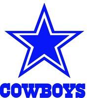 Dallas Cowboys Decal Sticker Football for YETI Tumbler Rambler Cup Car Window V1
