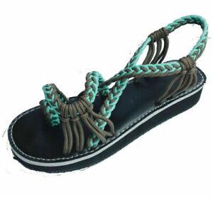 Bohemian Flat Flip Flops Bandages Beach Shoes Summer Casual Sandals Womens US