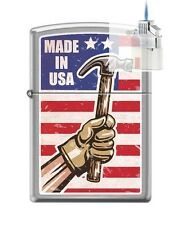 Zippo 200 Made In USA Hammer Lighter & Z-PLUS INSERT BUNDLE