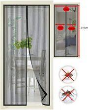 Kit Rideau Moustiquaire de porte Fermeture magnétique 100x210cm Anti moustiques