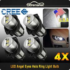 For BMW Angel Eyes E90 E91 3 Series LED Light White Halo Ring Marker Bulbs US 4×