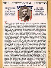 ADVERT WAR AMERICAN CIVIL LINCOLN GETTYSBURG ADDRESS ART POSTER PRINT LV7072