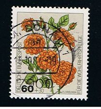 GERMANIA 1 FRANCOBOLLO BENEFICENZA ROSE FLORIBUNDA 1982 usato