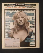 1995 Courtney Love Movie~Music Star Memorabilia~Rolling Stones Vintage Poster AD