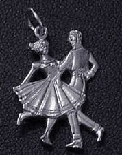 LOOK Country Music Western Dancing dancer Sterling Silver 925 Pendant Charm Jewe