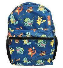 """Pokemon Pikachu Chamander Eevee Squirtle All Printed 16"""" School Kid's Backpack"""
