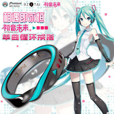 Japanese Anime Hatsune Miku Cosplay Lovers Necklace Horsetail Ring Gift #A692