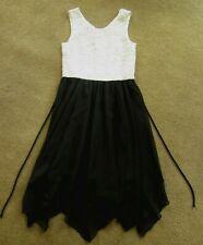 Pretty girls Speechless ivory lace sparkle & black dressy dress, size 10
