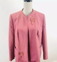Ladies EASTEX Vtg Suit Blazer Jacket With Pockets Size 10-12 Smart occasion