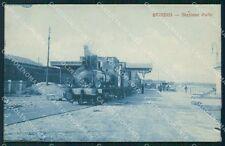 Brindisi Stazione Treno Cartolina postcard KF1163