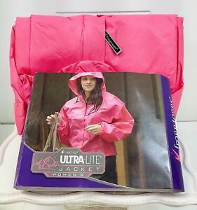 Frogg Toggs  Women's Ultra-Lite 2 Waterproof Rain Jacket~Pink-Women's Small