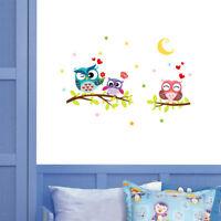 Cute Eule Wasserdicht Wandtattoo Wandaufkleber Aufkleber Für Kinderzimmer Dekor