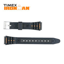 Timex Ironman Rubber Watch Strap 15mm Orange Silk Print