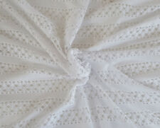 White Cotton Crochet Stretch Lace Fabric by the Yard 12/7/17