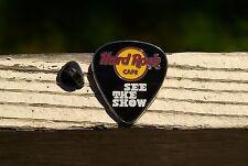 Hard Rock Cafe See The Show Guitar Pick Silver Tone Metal Enamel Pin Pinback