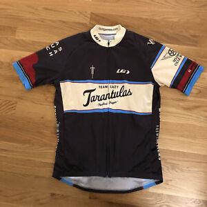 Louis Garneau Portland Tarantulas Full Zip Cycling Jersey Shirt Women's Large L