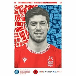 Nottingham Forest v Wycombe 2020/21 ~ Championship Programme 7/11/2020