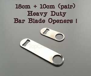 10cm  18cm LONG PROFESSIONAL RESTAURANT BAR BLADE BOTTLE OPENER HEAVY DUTY STEEL