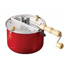 Eddingtons Traditional Stove-top Popcorn Maker - Popcorn Popper Red