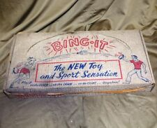 "Vintage 1956 Bing It ""The New Toy & Sport Sensation"" Badminton Game in Box Nr!"