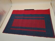 Selyn Red & Black Woven 1 Table Cloth and 6 Placemats (Sri Lanka Fair Trade).