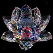Crystal Cut Lotus Flower Figurines Collectibles Wedding Party Ornament Multi