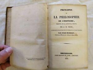 Philosophie de l'Histoire by Vico (1835 edition French Translation)