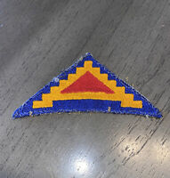 Vintage WWII US 7th Army Division Military Patch Old VTG Seven Steps Triangle
