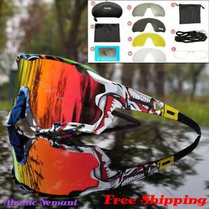 Cycling Sunglasses Polarized MTB Cycling Bike Racing UV400 5 Lens Night Vision