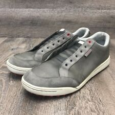 Ashworth Men's Cardiff Golf Shoes G54212 Gray Lace Up Low Top Spikeless 11.5