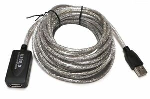 25Ft 25' Ft USB 2.0 Extension Repeater Cable Signal Booster A Male To A Female