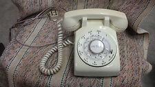 Vintage White Rotary Desk Phone Stromberg-Carlson