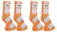 Cashel Crusader ARAB Size ORANGE Front Rear LEG GUARDS Mesh Boots Fly Control