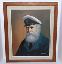 1950 Original Painting by Listed Rhode Island Artist David Pelbam - Sea Captain